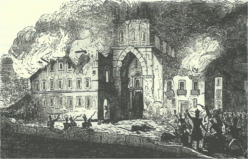 <b>Burning of the San Agustín Convent 1836</b>